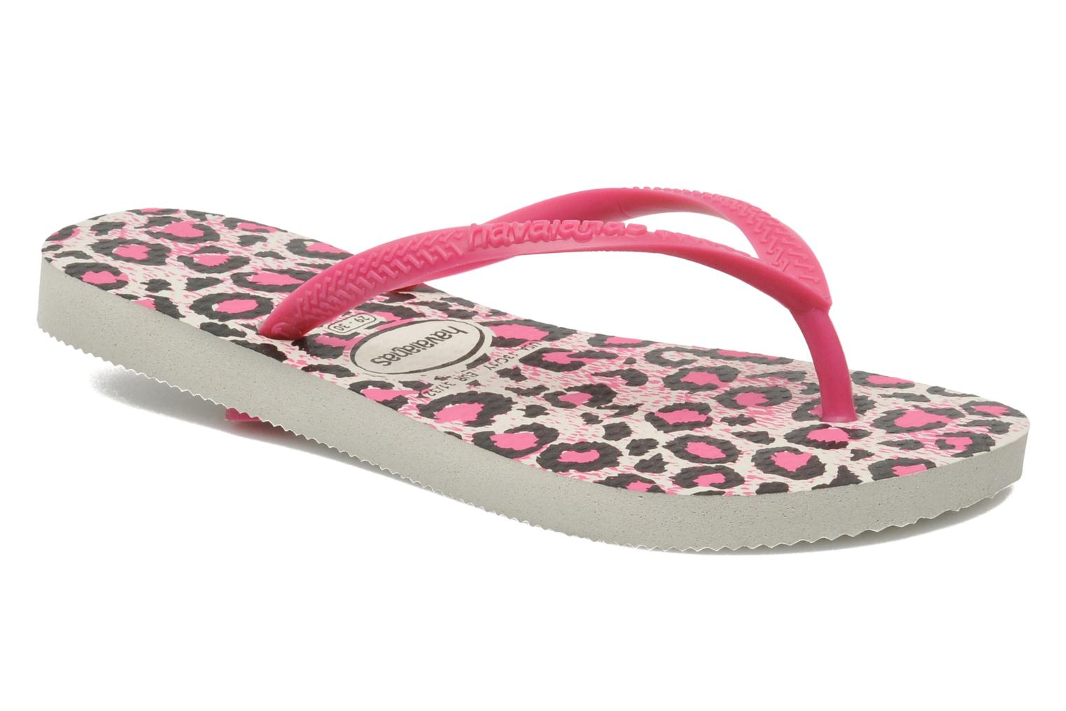 Tongs Havaianas Kids Slim Animals Rose vue détail/paire