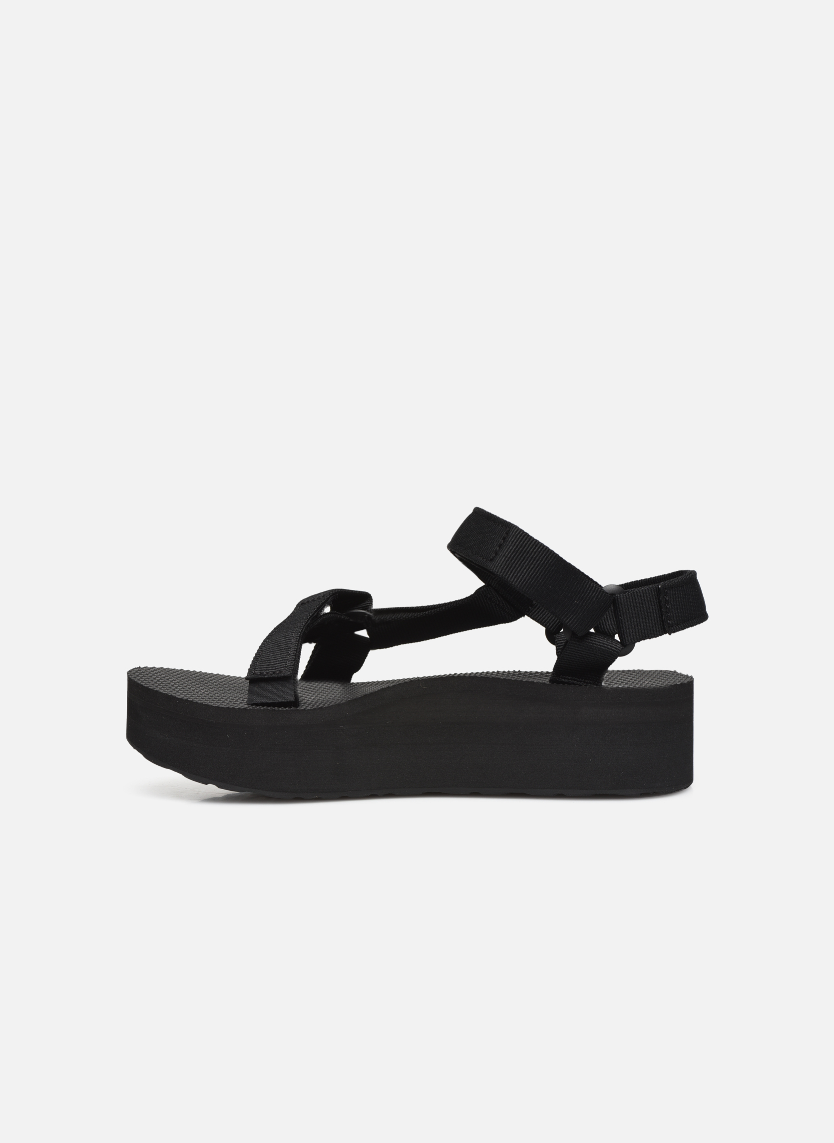Sandales et nu-pieds Teva Flatform Universal Noir vue face
