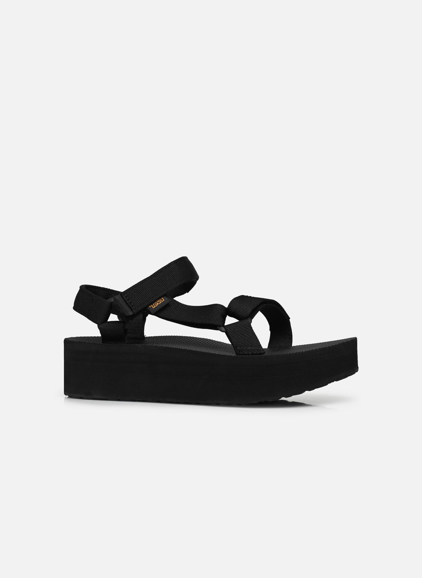 Sandales et nu-pieds Teva Flatform Universal Noir vue derrière