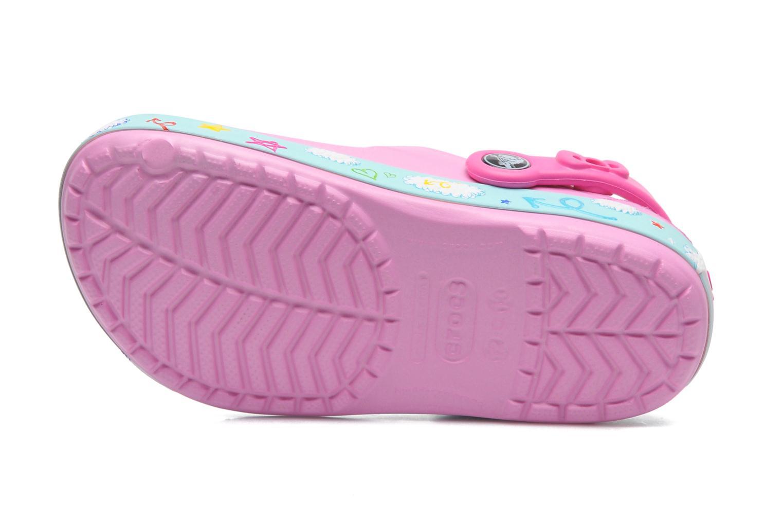 Sandales et nu-pieds Crocs CBHelloKittyPlaneClogEU Rose vue haut