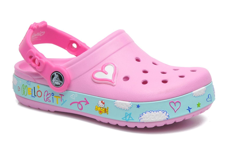 Sandales et nu-pieds Crocs CBHelloKittyPlaneClogEU Rose vue détail/paire