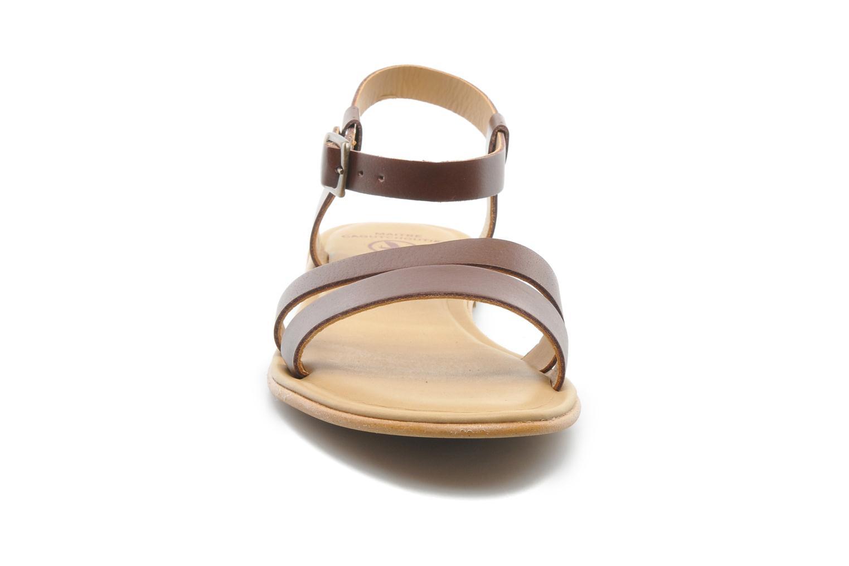 Sandales et nu-pieds Aigle Cambia Marron vue portées chaussures