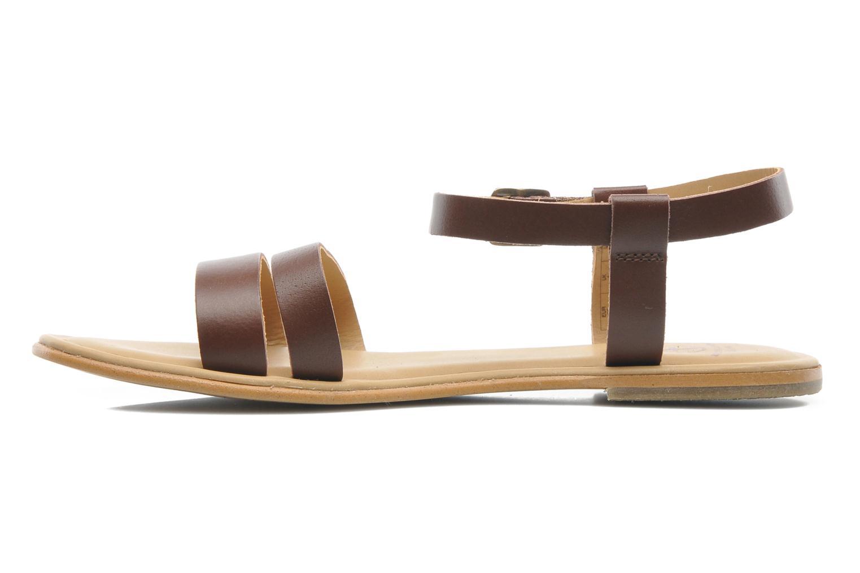 Sandales et nu-pieds Aigle Cambia Marron vue face