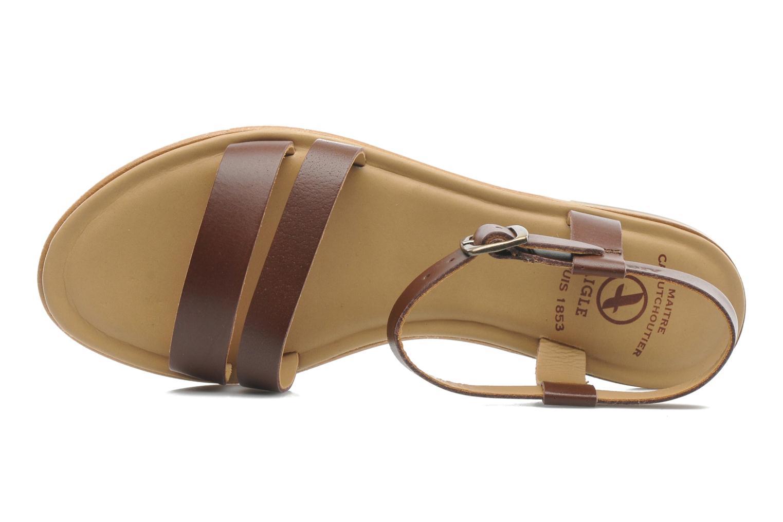 Sandales et nu-pieds Aigle Cambia Marron vue gauche