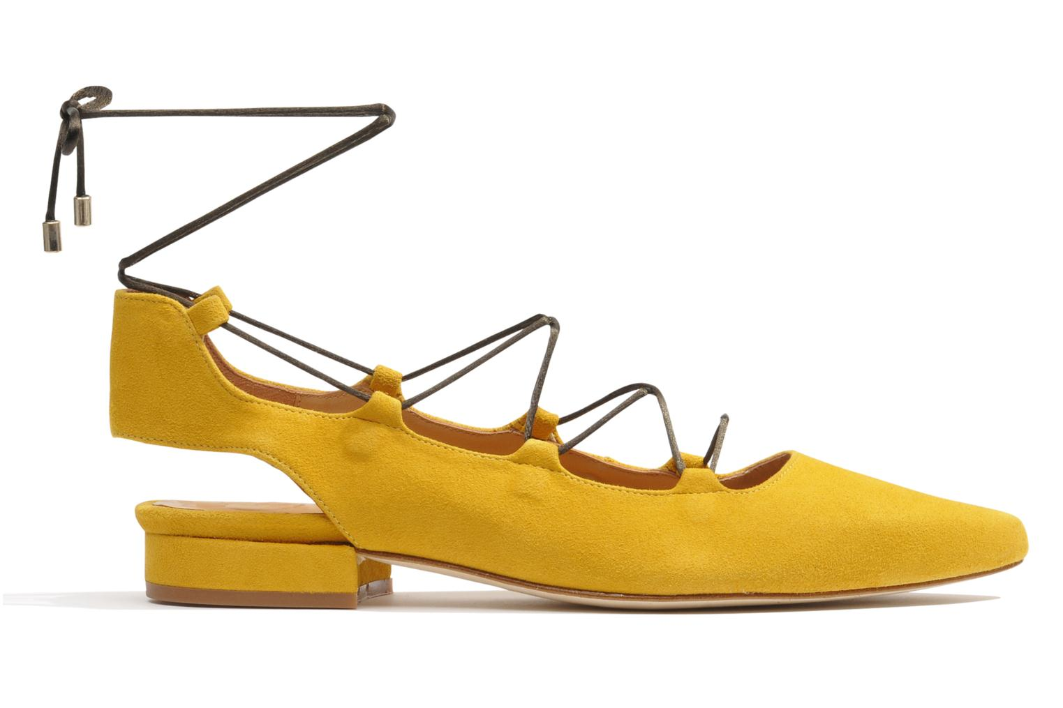Ballet pumps Made by SARENZA Seven Tease #3 Yellow detailed view/ Pair view