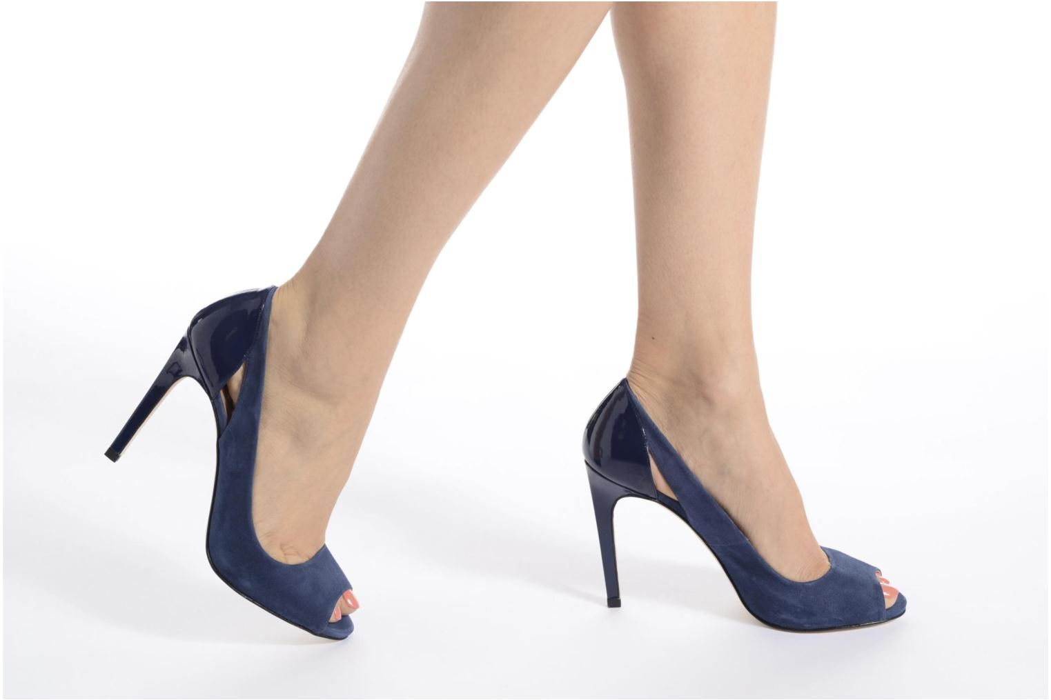 High heels Made by SARENZA Carioca Crew Escarpins #7 Blue view from underneath / model view