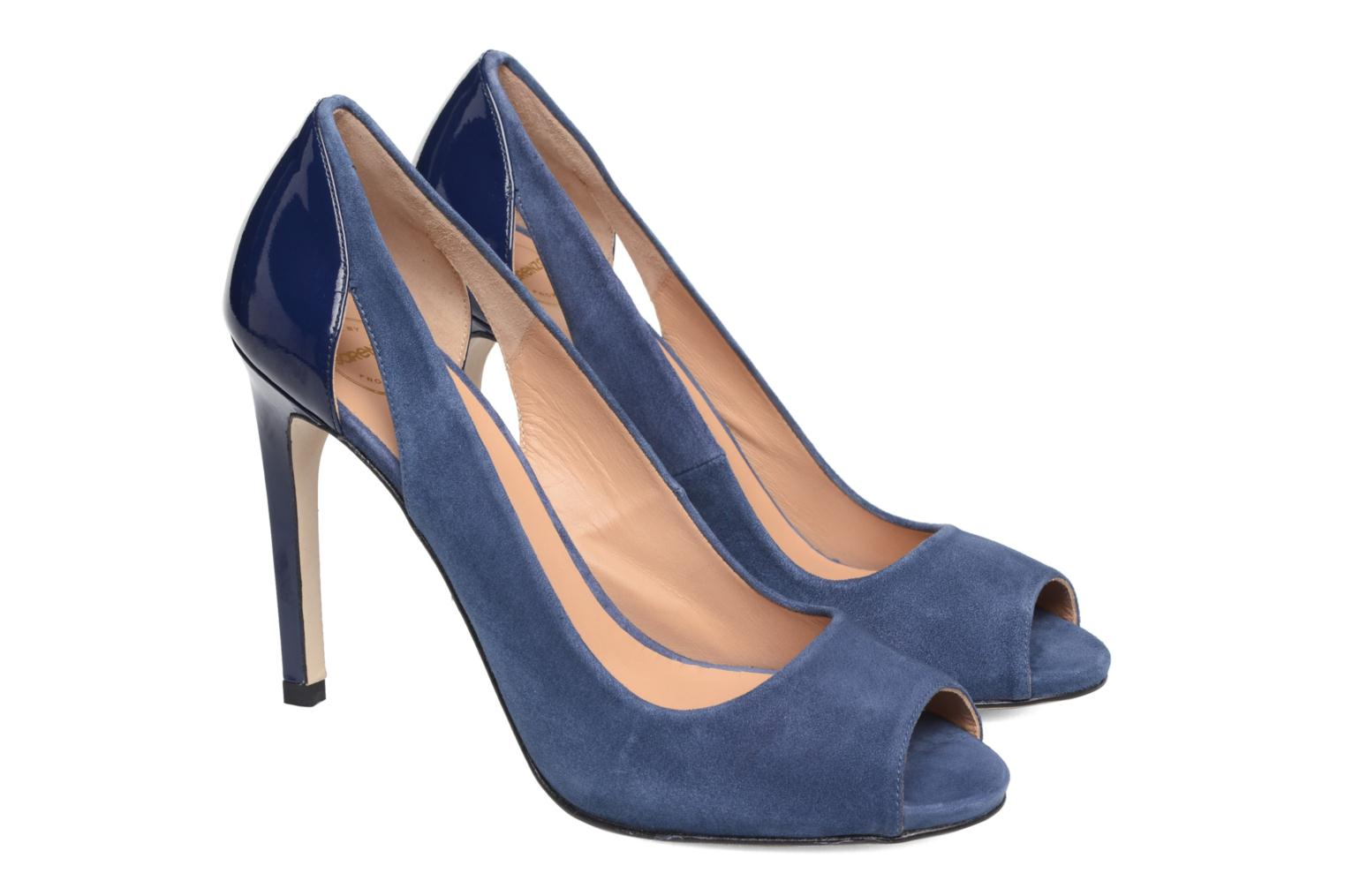 High heels Made by SARENZA Carioca Crew Escarpins #7 Blue back view