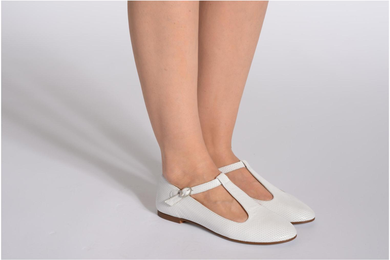 Ballet pumps Ippon Vintage City silver White view from underneath / model view