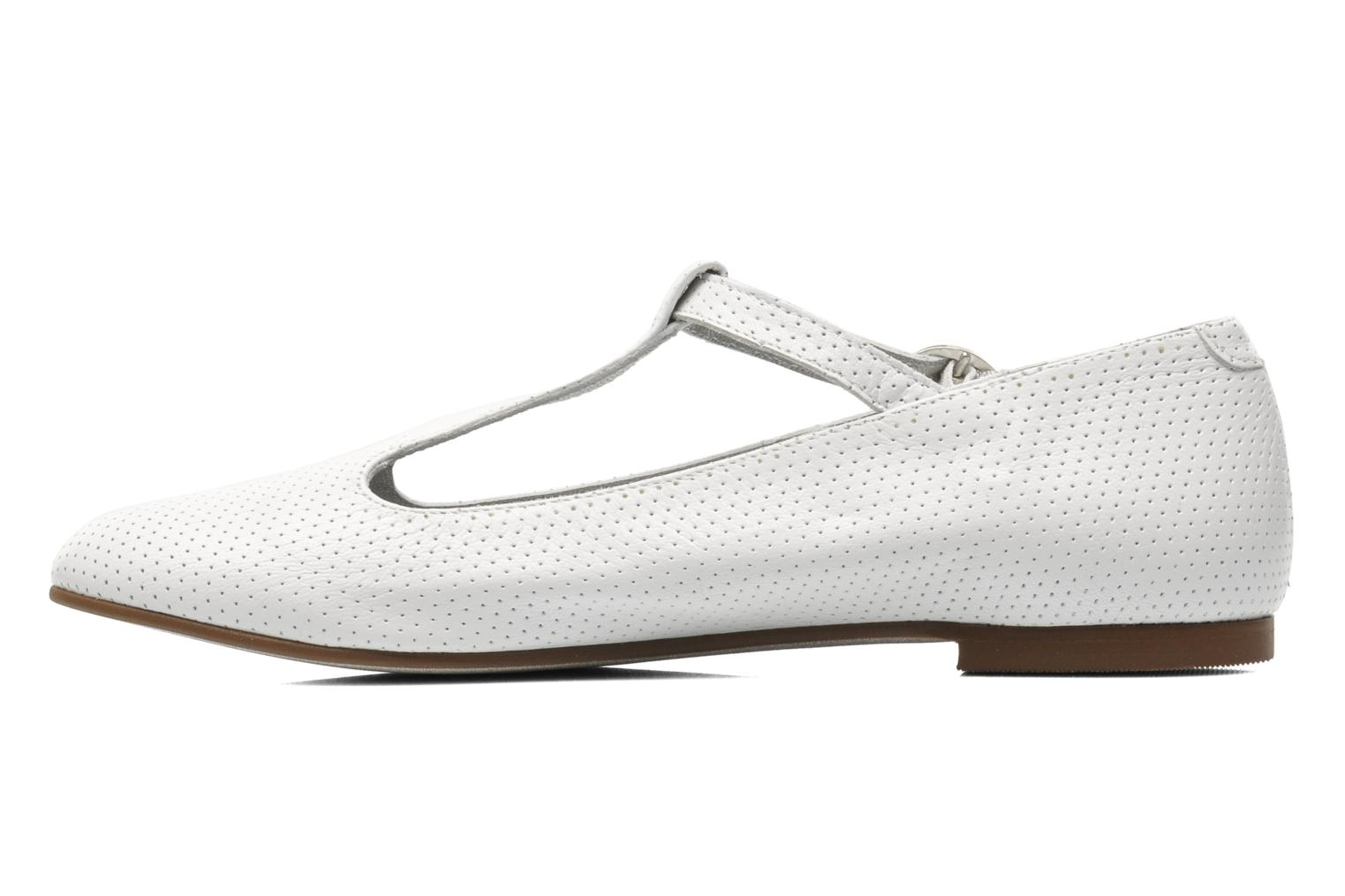 Ballet pumps Ippon Vintage City silver White front view