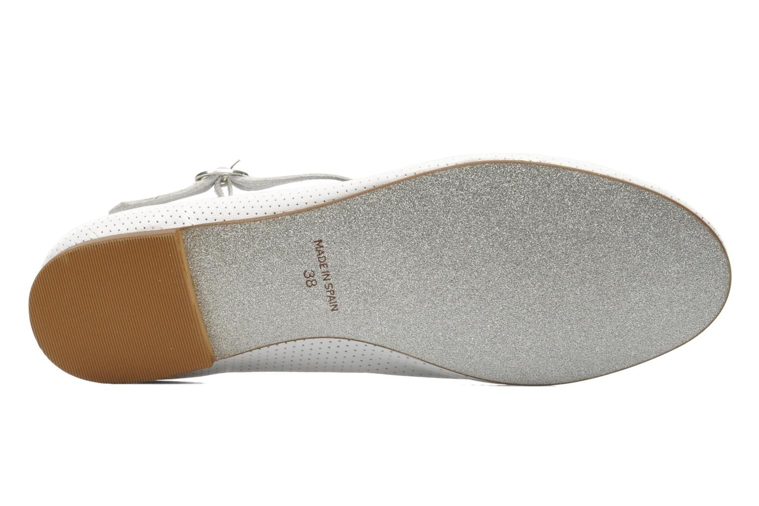 Ballet pumps Ippon Vintage City silver White view from above