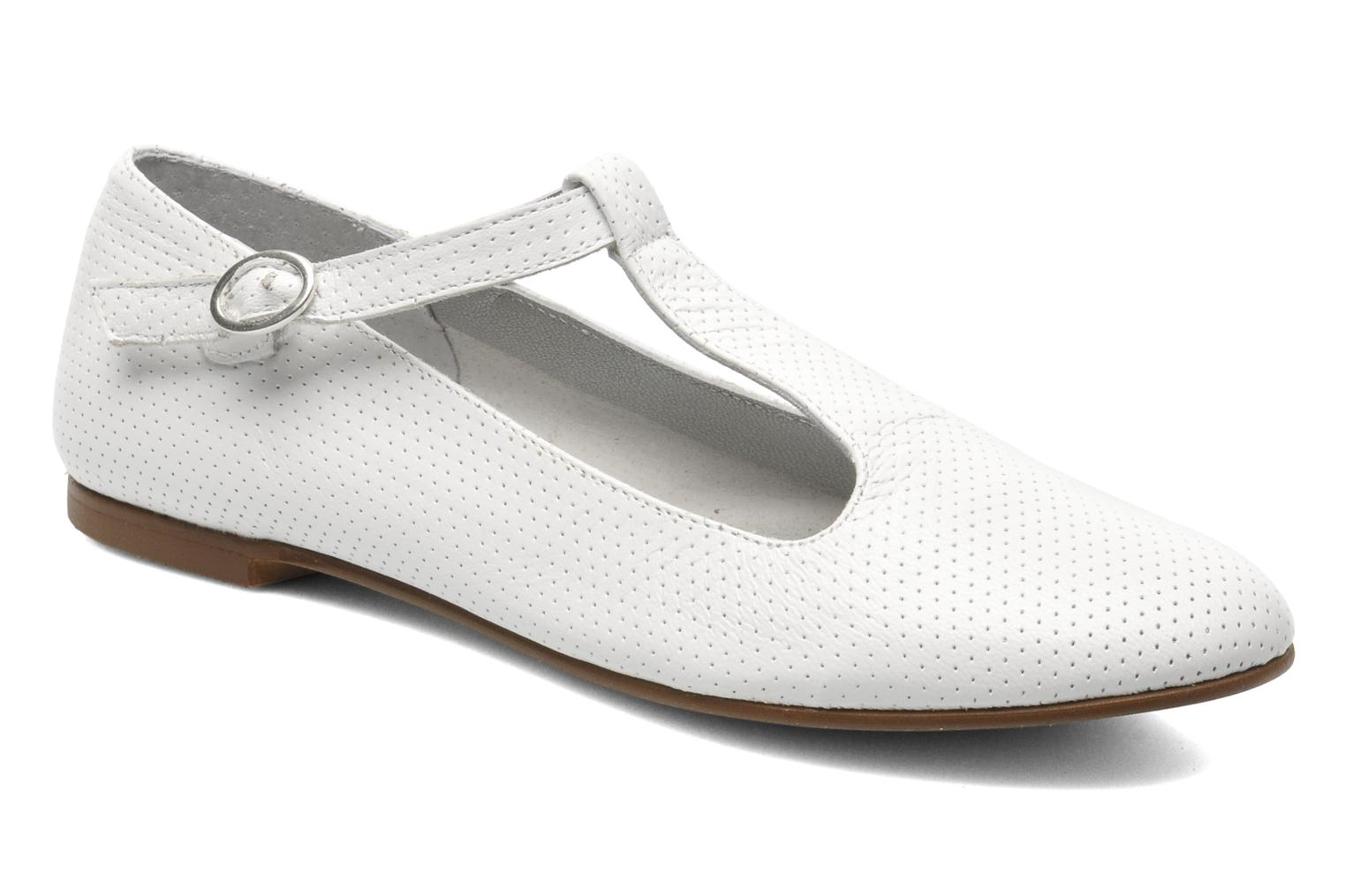 Ballet pumps Ippon Vintage City silver White detailed view/ Pair view