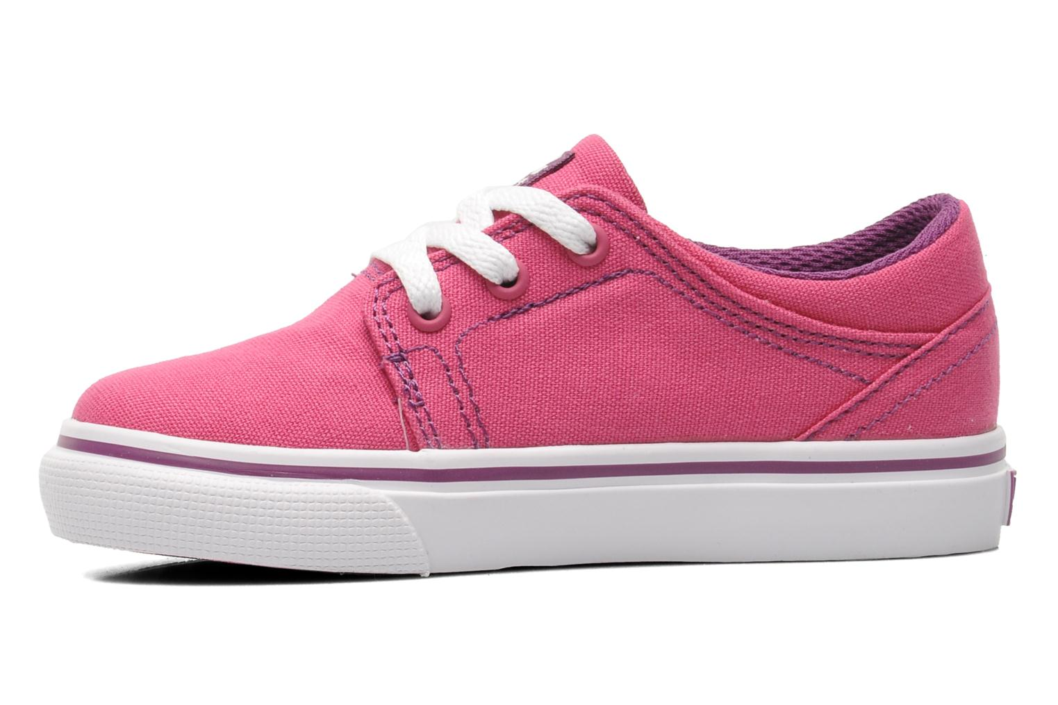 Sneakers DC Shoes TRASE TX Toddler Rosa immagine frontale