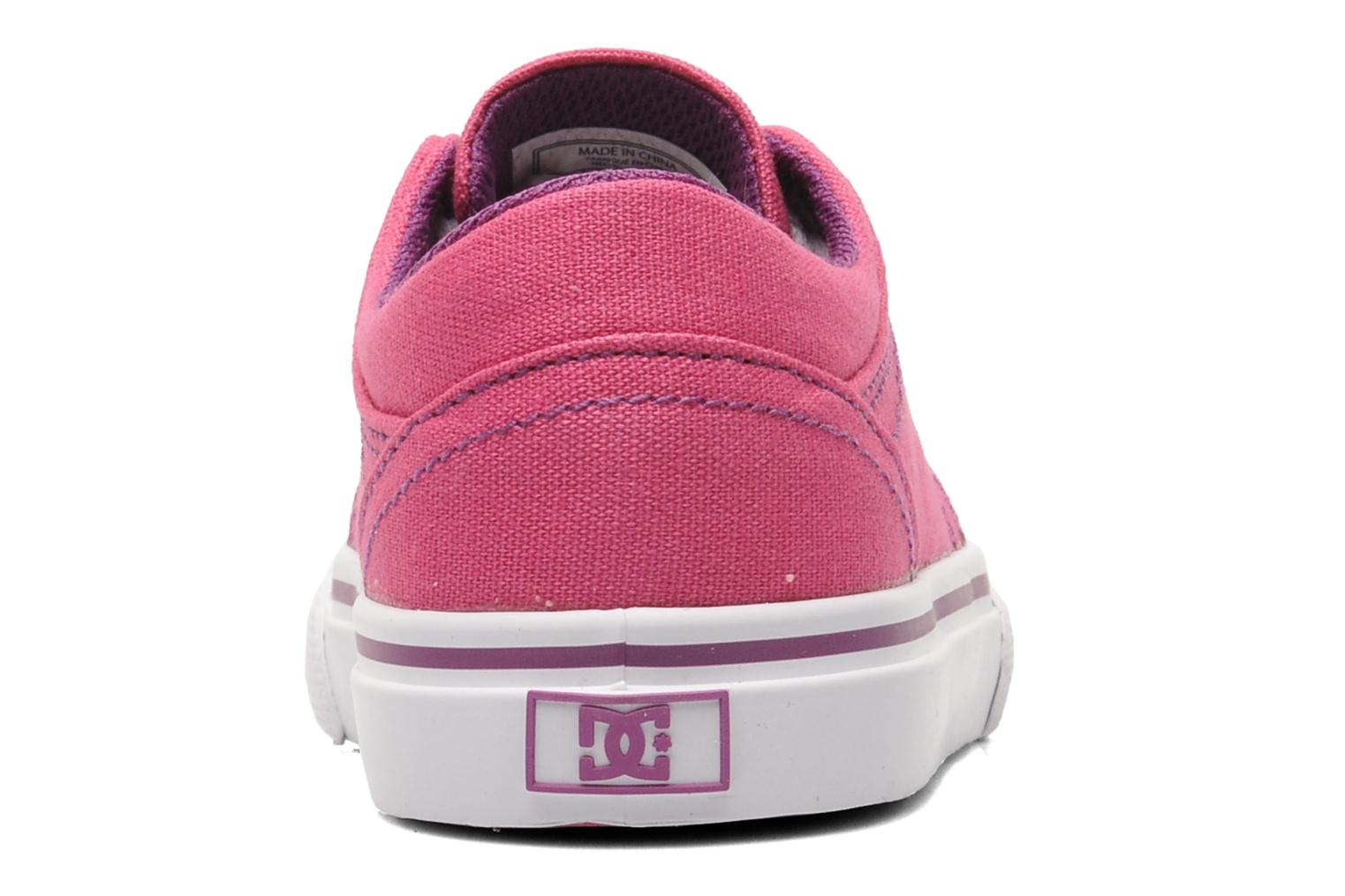 Trainers DC Shoes TRASE TX Toddler Pink view from the right