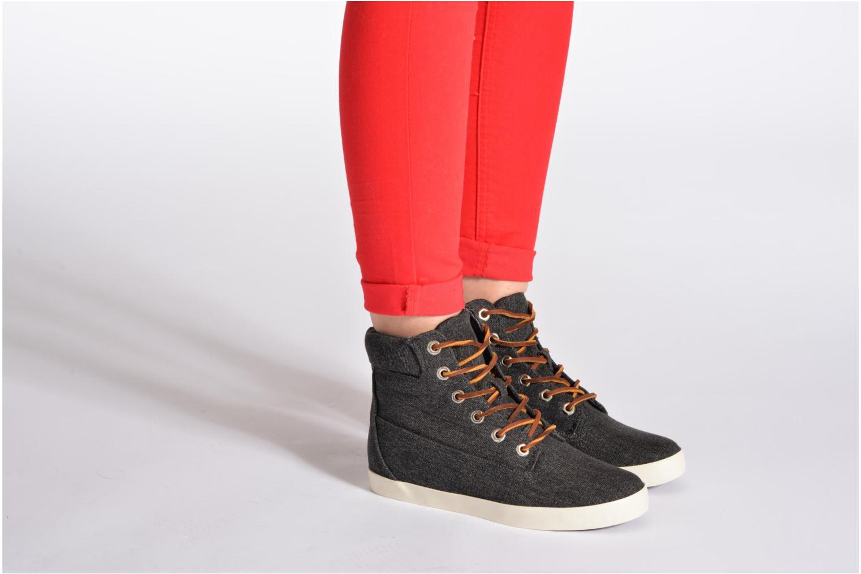 """Sneaker Timberland Earthkeepers Glastenbury Fab 6"""" Boot schwarz ansicht von unten / tasche getragen"""