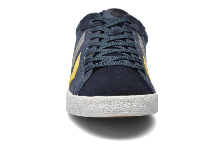 Sneaker Hummel Deuce Court Summer blau schuhe getragen