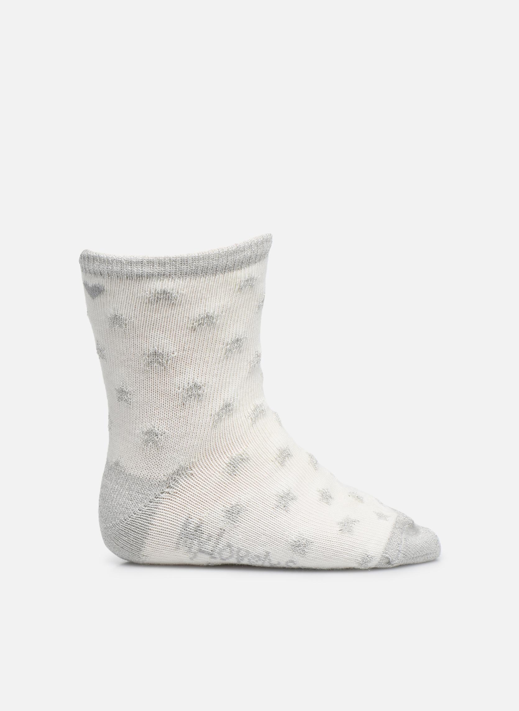 Chaussettes Mixte Celeste Stars blanc et gris argenté
