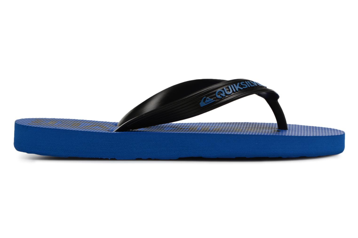 Tongs Quiksilver JAVA WORDMARK YOUTH Bleu vue derrière