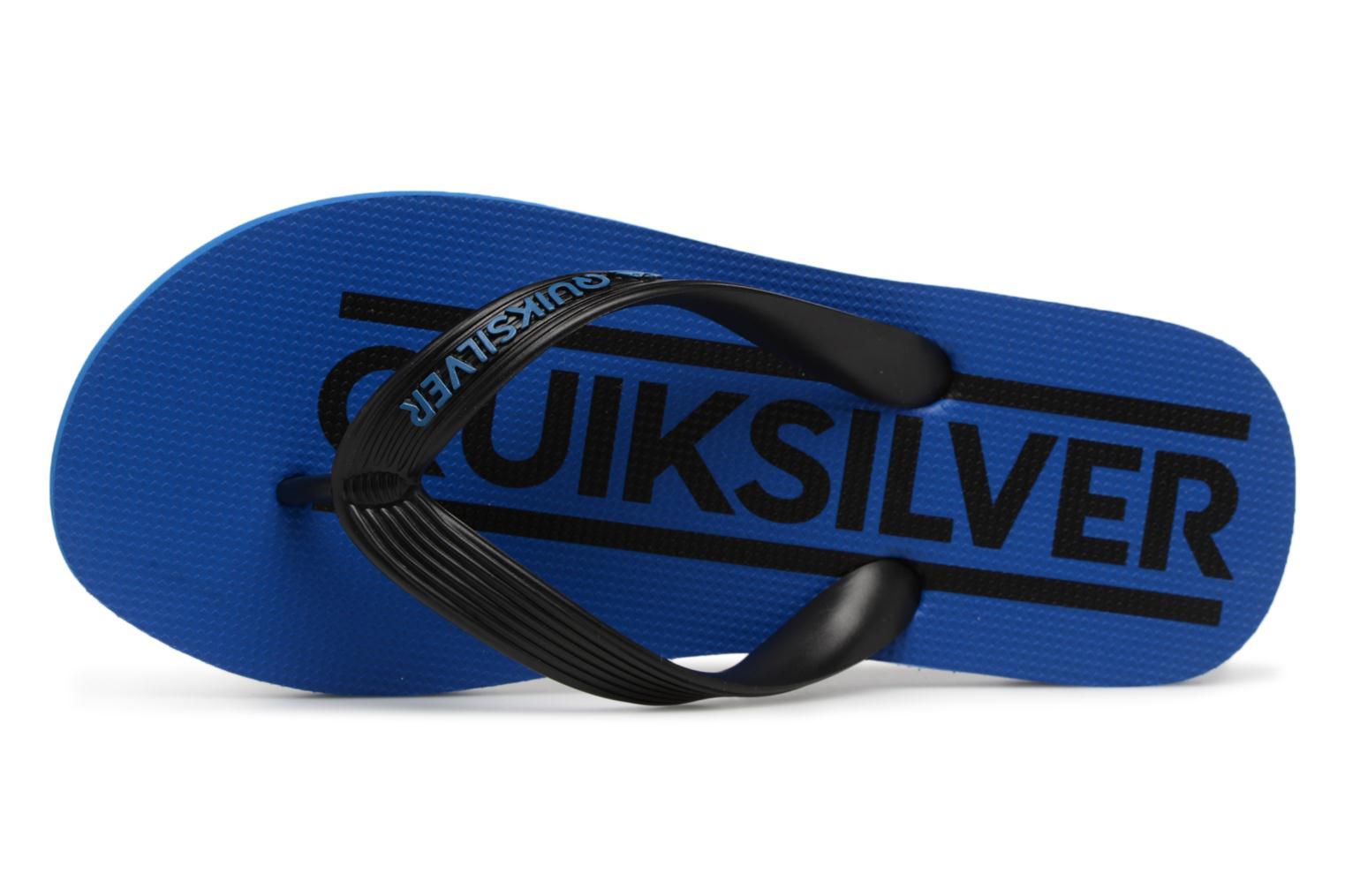 Tongs Quiksilver JAVA WORDMARK YOUTH Bleu vue gauche