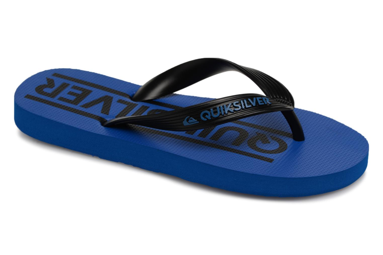 Tongs Quiksilver JAVA WORDMARK YOUTH Bleu vue détail/paire