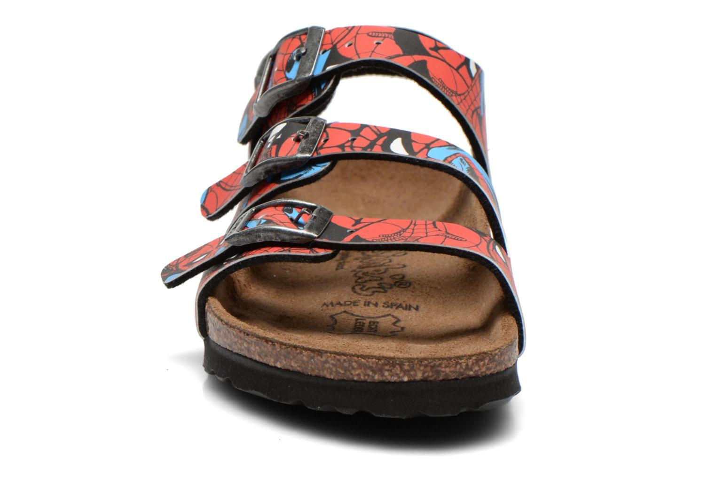 Sandales et nu-pieds Birkenstock ELLICE Rouge vue portées chaussures