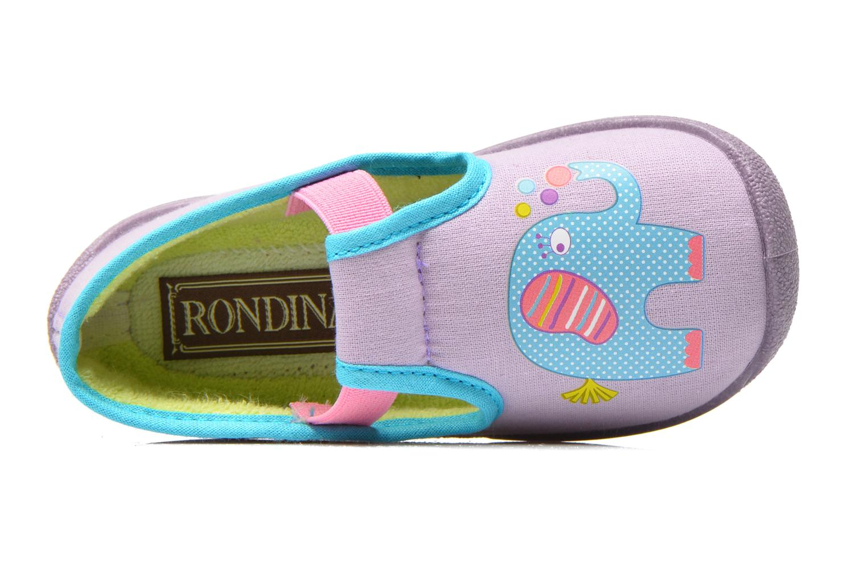 Pantofole Rondinaud DEFI Viola immagine sinistra