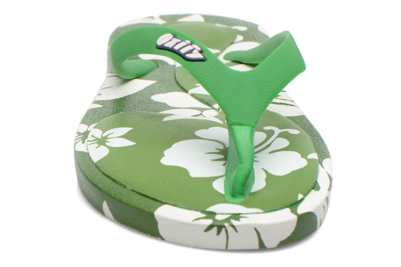 Tongs Ozify Prints M Vert vue portées chaussures