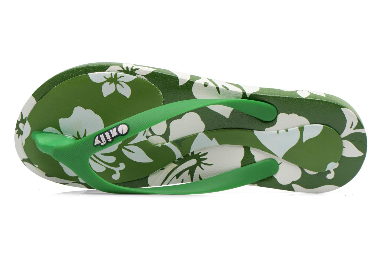 Flip flops & klipklapper Ozify Prints M Grøn se fra venstre