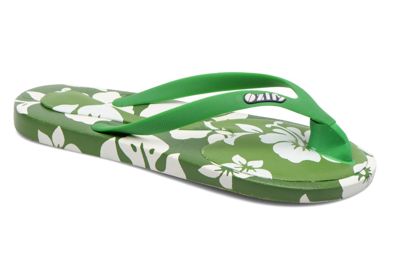 Flip flops & klipklapper Ozify Prints M Grøn detaljeret billede af skoene