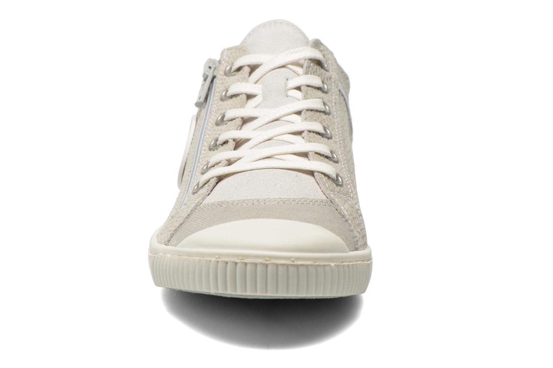 Baskets Pataugas Bisk Beige vue portées chaussures