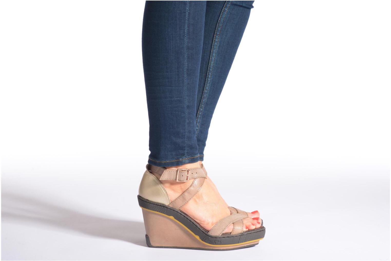 Sandales et nu-pieds Pataugas Gouy Noir vue bas / vue portée sac