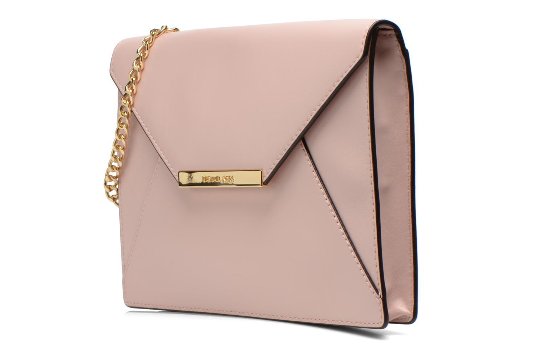 Mini Bags Michael Michael Kors LANA Envelope Clutch rosa schuhe getragen