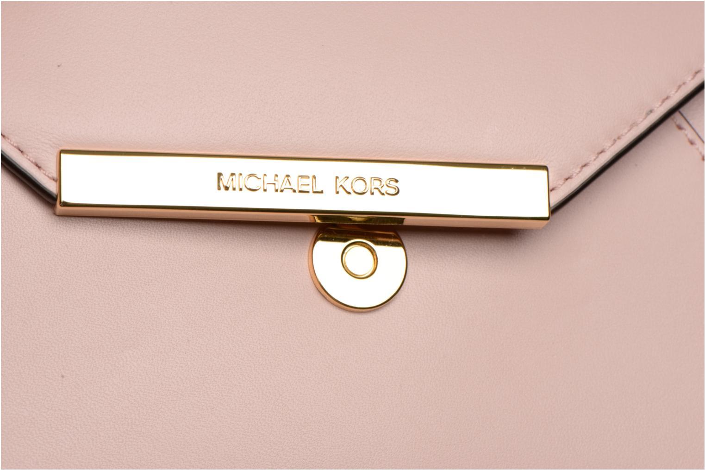 Mini Bags Michael Michael Kors LANA Envelope Clutch rosa ansicht von links