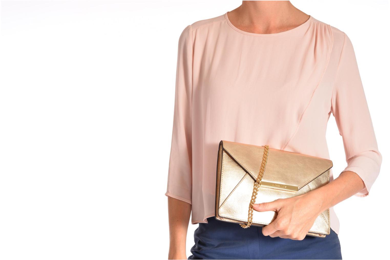 Mini Bags Michael Michael Kors LANA Envelope Clutch rosa ansicht von oben