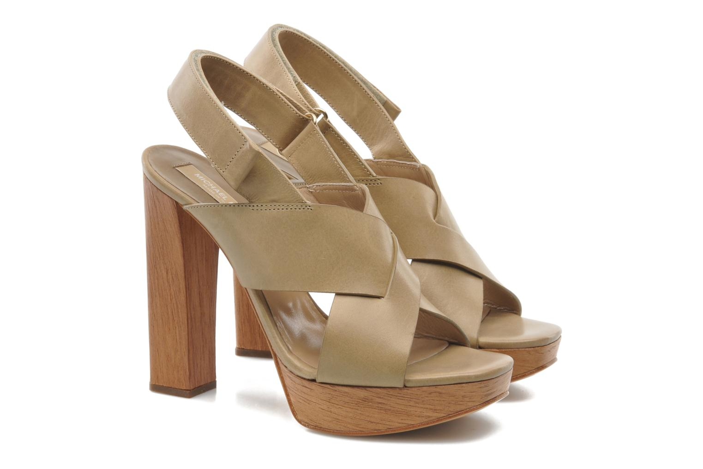 Sandals Michael Michael Kors Mayana Beige 3/4 view