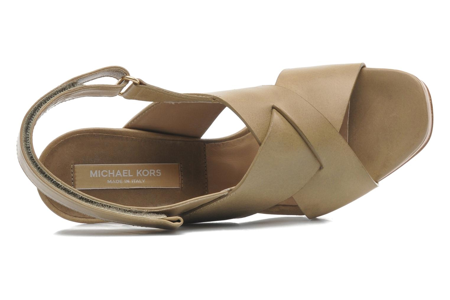 Sandals Michael Michael Kors Mayana Beige view from the left