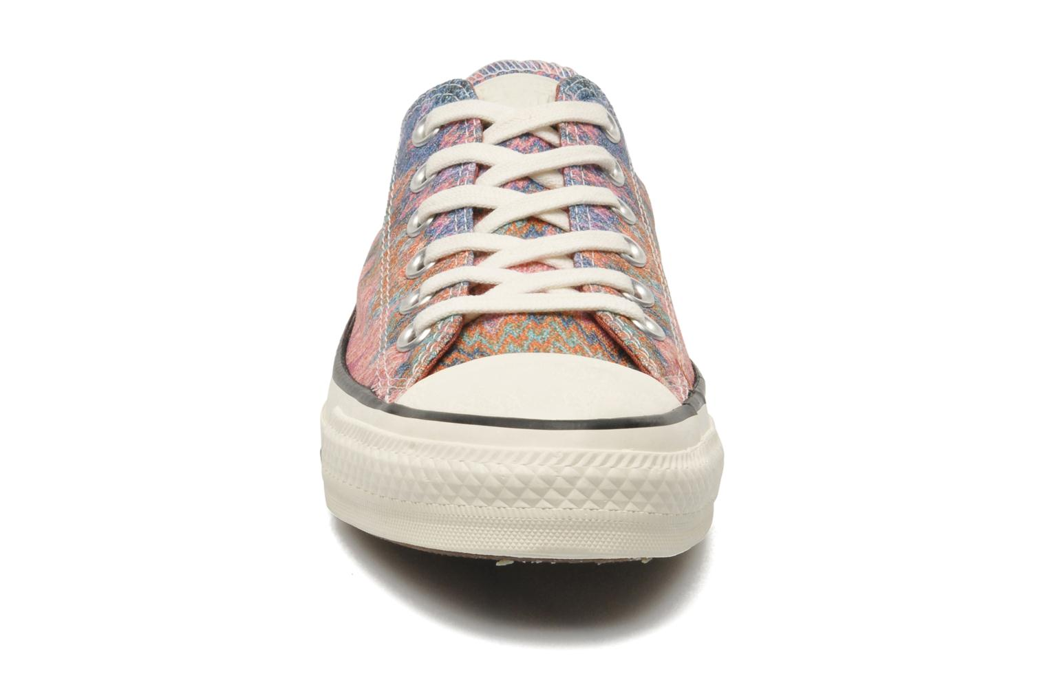 Baskets Converse Chuck Taylor All Star Missoni Wash Ox W Multicolore vue portées chaussures
