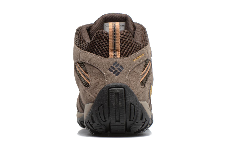 Chaussures de sport Columbia Redmond Mid Waterproof Marron vue droite