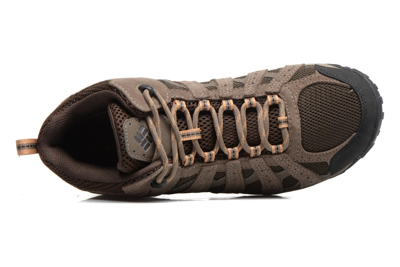Chaussures de sport Columbia Redmond Mid Waterproof Marron vue gauche