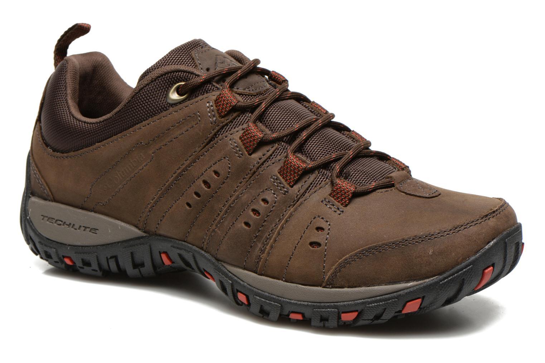 Chaussures de sport Columbia Woodburn Plus II Marron vue détail/paire