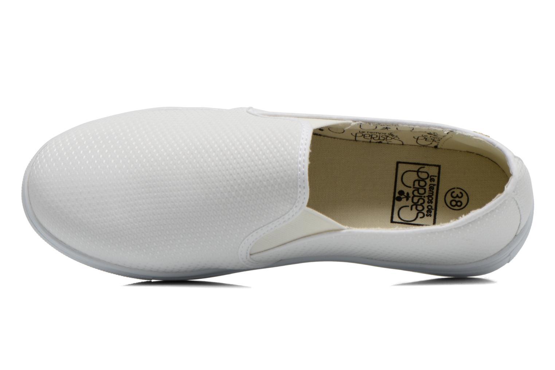 Sneaker Le temps des cerises Ava weiß ansicht von links