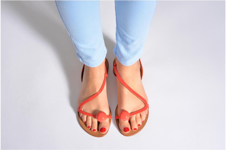 Sandales et nu-pieds Georgia Rose Calindda Or et bronze vue bas / vue portée sac