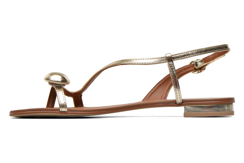 Sandales et nu-pieds Georgia Rose Calindda Or et bronze vue face