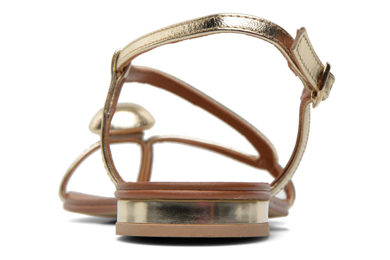 Sandales et nu-pieds Georgia Rose Calindda Or et bronze vue droite