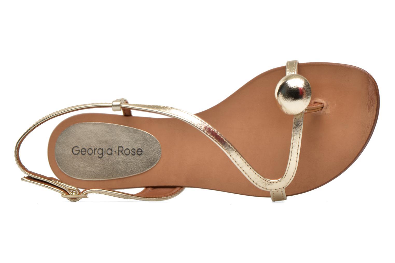Sandales et nu-pieds Georgia Rose Calindda Or et bronze vue gauche
