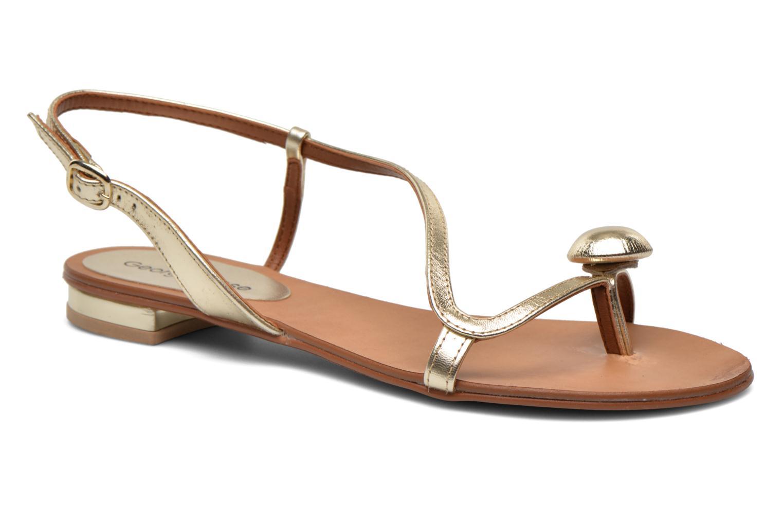 Sandales et nu-pieds Georgia Rose Calindda Or et bronze vue détail/paire