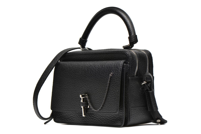 Handtaschen Carven MALHER Petit porté travers schwarz schuhe getragen