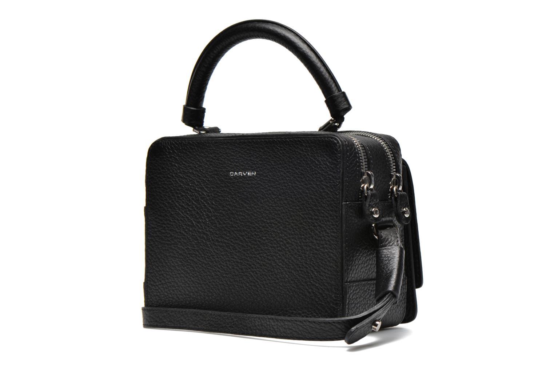 Handtaschen Carven MALHER Petit porté travers schwarz ansicht von rechts