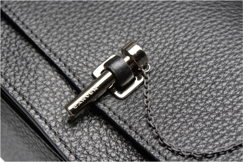 Handtaschen Carven MALHER Petit porté travers schwarz ansicht von links