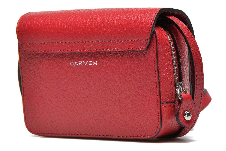 Håndtasker Carven MALHER Mini Sac Rød Se fra højre