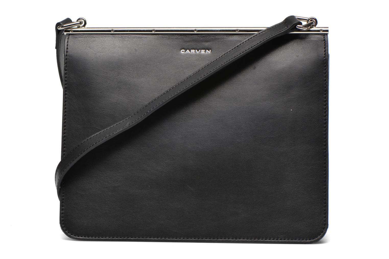 Handtaschen Carven SAINT SULPICE Bandoulière schwarz ansicht von vorne